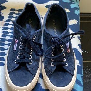 Superga navy sneakers size 9 women's